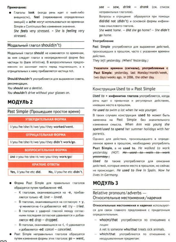 Учебник Spotlight 7. Грамматический справочник