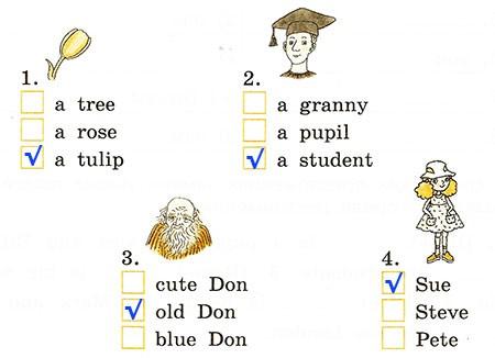 Контрольная работа. Rainbow English 2. Урок 36-42. Вариант 1