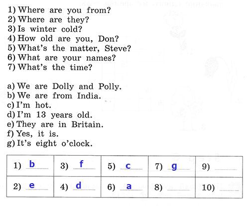 Рабочая тетрадь Rainbow English 3. Unit 8. Step 5