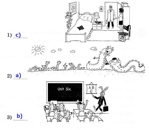 Рабочая тетрадь Rainbow English 3. Unit 6. Step 1