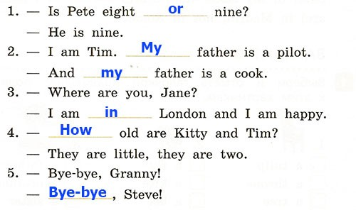 Контрольная работа. Rainbow English 2. Урок 43-49. Вариант 2