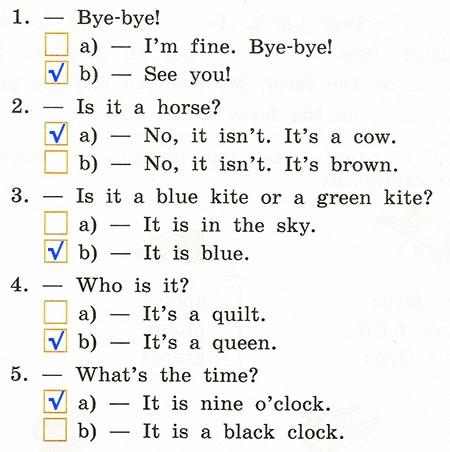 Годовая контрольная работа. Rainbow English 2. Урок 1-63. Вариант 3