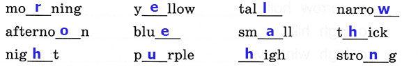 Рабочая тетрадь Rainbow English 3. Unit 4. Step 1