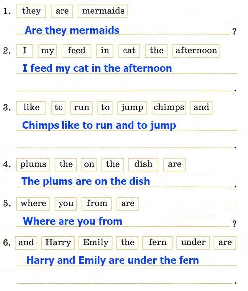 Контрольная работа. Rainbow English 2. Урок 57-63. Вариант 1