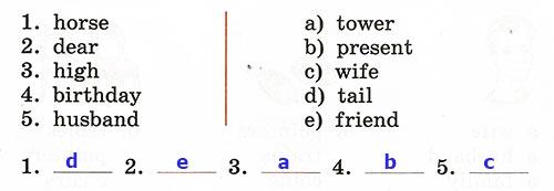 Контрольные работы Rainbow English 3. Unit 5. Вариант 1