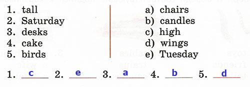 Контрольные работы Rainbow English 3. Unit 5. Вариант 3