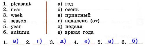 Контрольные работы Rainbow English 3. Unit 8. Вариант 1