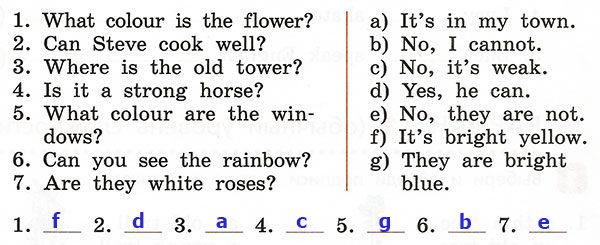 Контрольные работы Rainbow English 3. Unit 3. Вариант 2