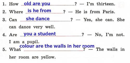 Контрольные работы Rainbow English 3. Unit 4. Вариант 1