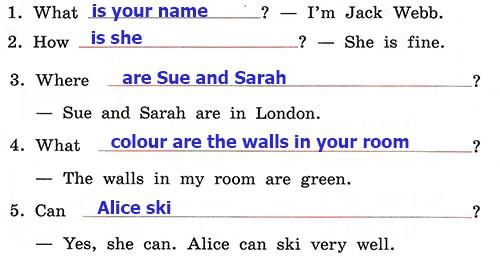 Контрольные работы Rainbow English 3. Unit 4. Вариант 2