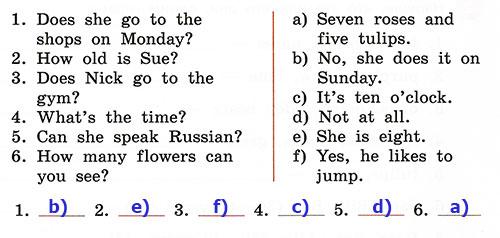 Контрольные работы Rainbow English 3. Unit 7. Вариант 4